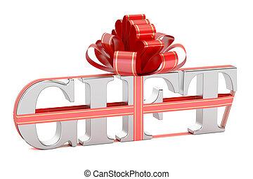 Gift concept, 3D rendering