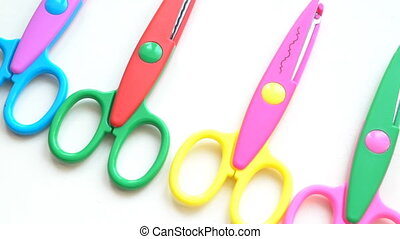 scissors for scrapbooking - multicolored scissors for...