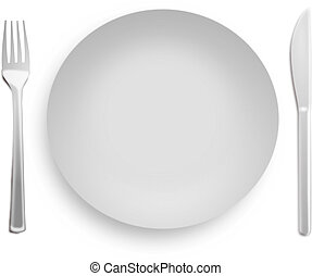 Table appointment - Etiquette. Formal table setting isolated...