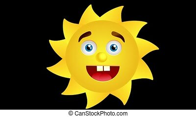 Animation of smiling sun - This is animation of cute smiling...