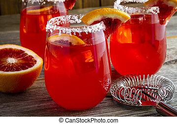 Fresh Blood Orange Margaritas - Fresh blood orange...