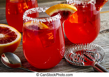 Fresh Blood Orange Margaritas - Fresh blood orange...