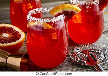 Fresh Blood Orange Margaritas - Fresh blood orange margarita...