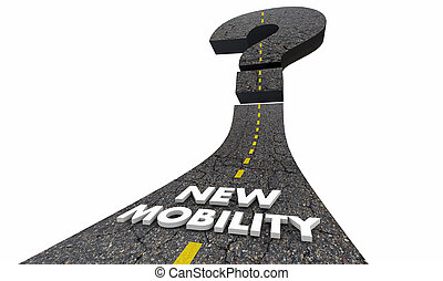 New Mobility Question Mark Road Future Transportation 3d...