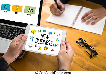 NEW BUSINESS  New Beginning   Solution  for Goals Start Your Life lifestyle begi  business Vision Mission  Planning Corporate Concept