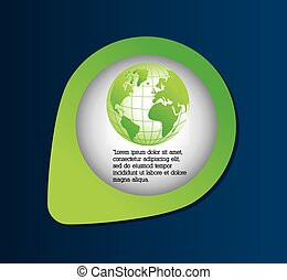 nature planet ecology care icon