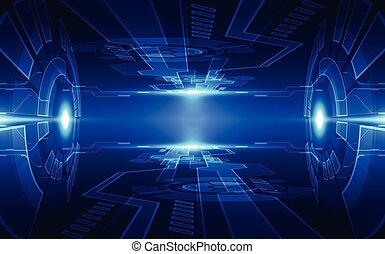 Abstract digital technology concept. vector background
