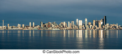 Seattle Skyline Reflections 3