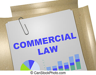 Commercial Law - business concept