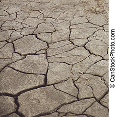 Large cracks in the ground - Photos in which the large...