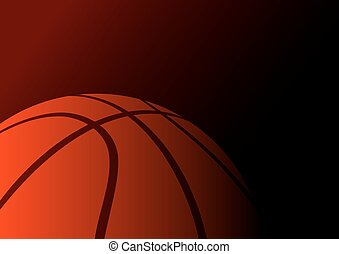 Basketball background (big ball)