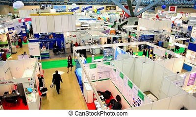 Exhibition of medical companies in big showroom - MOSCOW -...