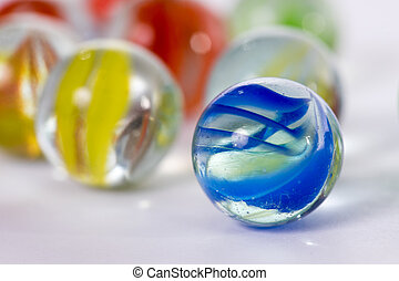 Marbles - many colorful marbles of glass