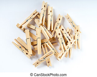 clothespins - Many clothespins made of wood