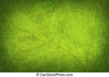 Green Leaf Grunge Nature Background