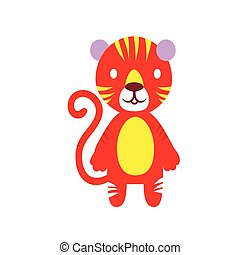 Cheerful color tiger