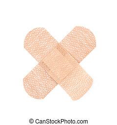 Adhesive bandage sticking plaster - Cross shaped adhesive...