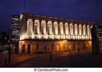 Birmingham City Hall in the night. West Midlands, England.