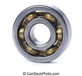 old bearings isolated on a white background