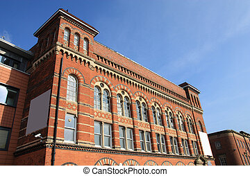 Birmingham Jewellery Quarter. Old brick factory building....