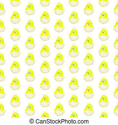 easter chick hatching pattern isolated