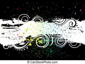 ink background - grunge ink vector background
