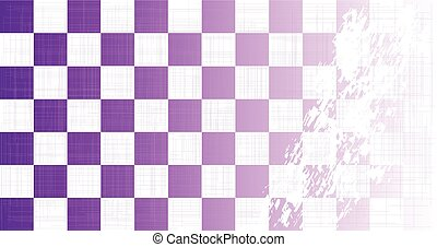 Chequered Purple Grunge - A purple chequered flag faded with...