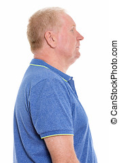 Profile view of mature man