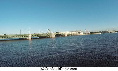 Sunset on the Neva River