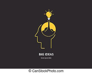 abstract concept of launching new ideas for business and...