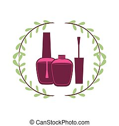 Woman make up icon vector illustration graphic design