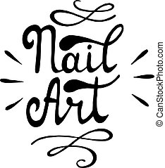 Nail art. Vector illustration