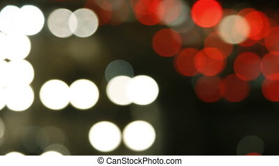 Defocused lights from cars