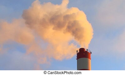 Chimney with fumes
