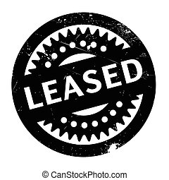 Leased rubber stamp. Grunge design with dust scratches....