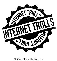 Internet Trolls rubber stamp. Grunge design with dust...