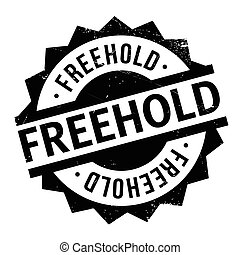 Freehold rubber stamp. Grunge design with dust scratches....