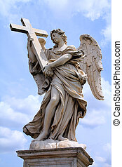 Angel in Rome - Rome, Italy. One of the angels at famous...