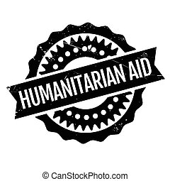 Humanitarian Aid rubber stamp. Grunge design with dust...