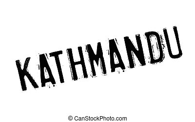 Kathmandu rubber stamp. Grunge design with dust scratches....