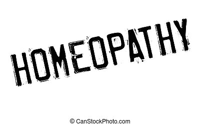 Homeopathy rubber stamp. Grunge design with dust scratches....