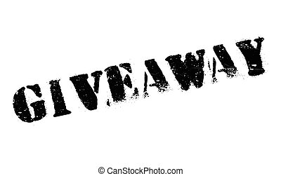 Giveaway rubber stamp. Grunge design with dust scratches....