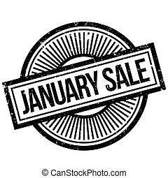 January Sale rubber stamp. Grunge design with dust...