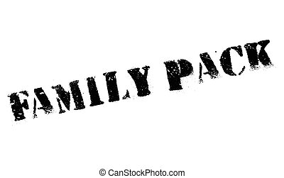 Family Pack rubber stamp. Grunge design with dust scratches....