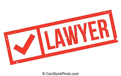 Lawyer rubber stamp. Grunge design with dust scratches....