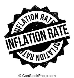 Inflation Rate rubber stamp. Grunge design with dust...