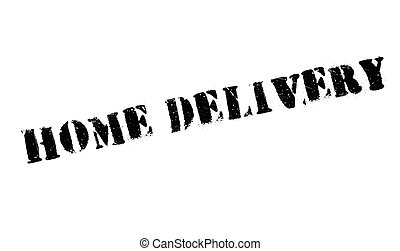 Home Delivery rubber stamp. Grunge design with dust...