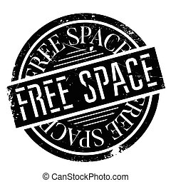 Free Space rubber stamp. Grunge design with dust scratches....