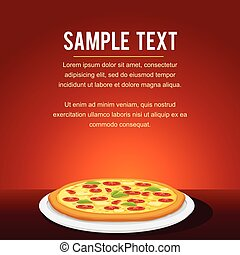 Fast Food Pizza Restaurant Menu Card Design