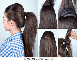 hairstyle volume ponytail tutorial - volume hairstyle...